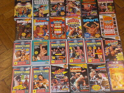 WRESTLING VIDEOS auf VHS Originale Rampage Wrestlefest Royal WWE WWF WCW Hulk