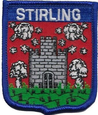 Stirling Scotland Flag Embroidered Patch Badge