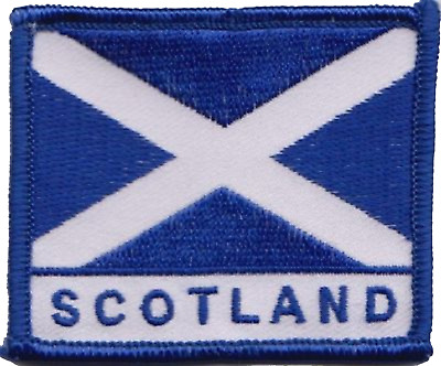 Scotland Scottish Saltire Rectangular Embroidered Patch Badge