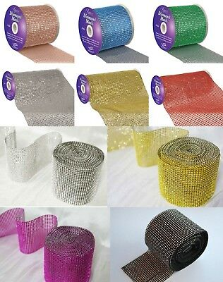 Diamante Rhinestone Effect Bling  Mesh Cake Trim Ribbon DIY Wedding
