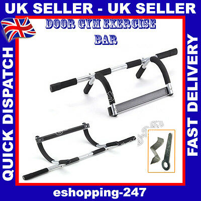 Adjustable Door Fitness Exercise Training Gym Strength Push Pull Up Sit Bar A031