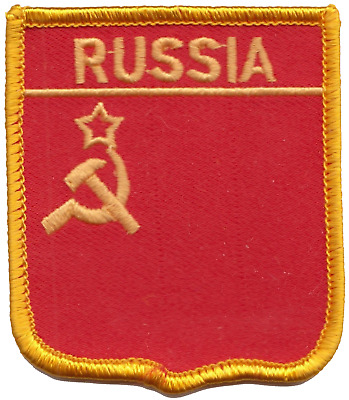 USSR Soviet Union Russia Hammer and Sickle Flag Embroidered Patch Badge