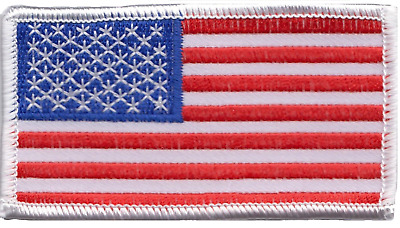 United States of America US USA Flag Rectangular Embroidered Patch Badge