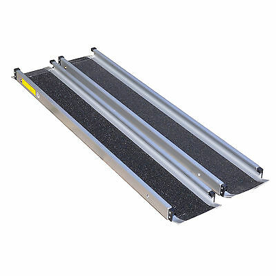 6ft Extending Telescopic Wheelchair Mobility Scooter Channel Ramps Disabled