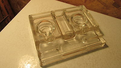 Antique Glass Inkwells & Pen Holder