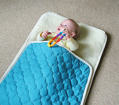 100% Natural Pure Merino Wool ~ Quilted Cover Baby Snuggler Sleeping Bag Warmer
