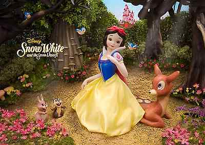 Disney Snow White and the Seven Dwarfs 3D Lenticular Greeting Card / 3D Postcard