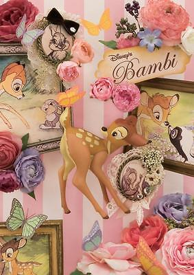 Disney Happy Bambi 3D Lenticular Greeting Card / Disney Collectible 3D Postcard