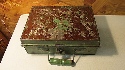 Antique Handmade Fire Proof Lock Box