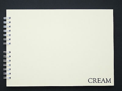 Mountboard Blank Scrap Book / Guest Book / Photo Album A5, 20 Pages, White/Cream