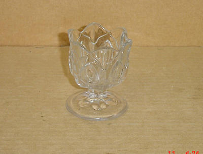 EAPG CRYSTAL FLINT OVOID PANELS EGG CUP MAKER UNKNOWN CIRCA 1860