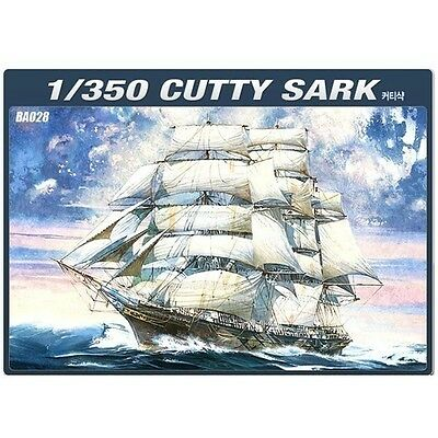 Academy 1/350 Cutty Sark Sailboat Boat Ship Plastic Model Kit #14110