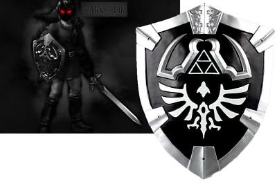 Large Dark Black Link's Knight Hylian Shield from the Game Legend of Zelda