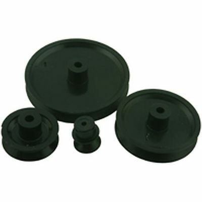 Motor Pulley Black 10mm for 2mm Shaft (4 Pack)