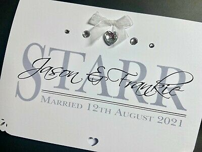 Handmade Personalised Wedding 'Surname' Card