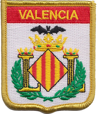 Spain Valencia City Coat of Arms Shield Embroidered Patch Badge