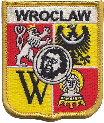 Poland Wrocław City Coat of Arms Shield Flag Embroidered Patch
