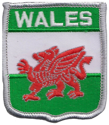 Wales Welsh Dragon Flag Embroidered Patch Badge