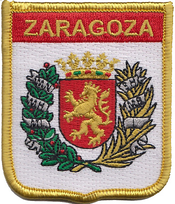 Spain Zaragoza City Coat of Arms Shield Embroidered Patch Badge