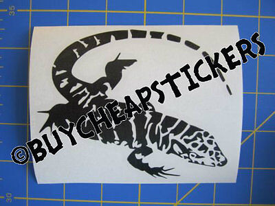 Tegu Lizard #2 Vinyl Decal - Sticker 4x5 - Any Color