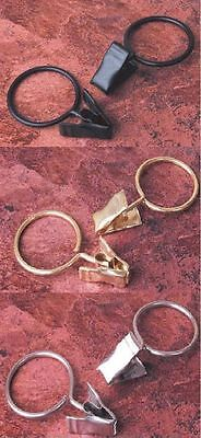 Swish (Pack Of 20) Metal Curtain Rings With Pincer Clips Clamps Ring Size 23Mm