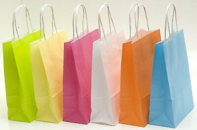 RVFM Coloured Paper Bags 24x18x8cm Pack of 36