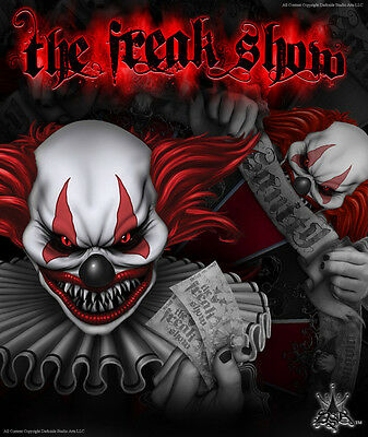 """Yamaha 2006-'12 Raptor 700 700R Decals Graphics """"the Freak Show"""" For White Parts"""