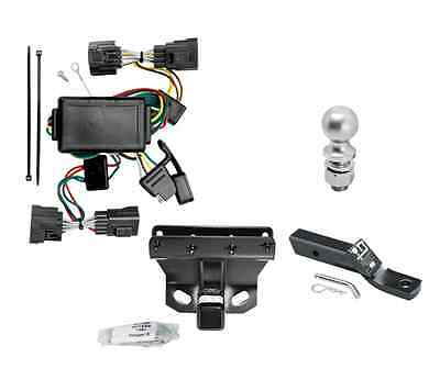 """Class 3 Trailer Hitch Tow Kit w/ 2"""" Ball & Wiring for 2006-2010 Jeep Commander"""