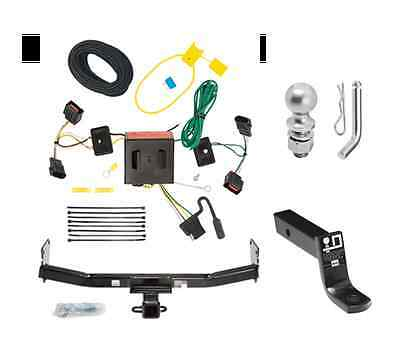 """Class 3 Trailer Hitch Receiver Tow Kit w/ 2"""" Ball & Wiring for Jeep Patriot"""