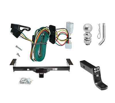 """Class 3 Trailer Hitch Tow Kit w/ 2"""" Ball & Wiring for 1997-2001 Jeep Cherokee"""