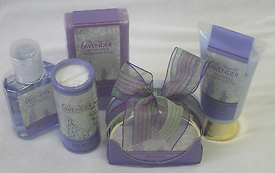 5 Piece Browns of Melbourne Lavender Body Lotion,Butter,Soap,Talc,Hand Sanitizer