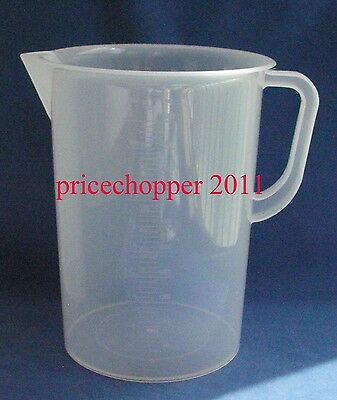 5000ml Transparent Plastic Beaker with Handle Measuring Cup