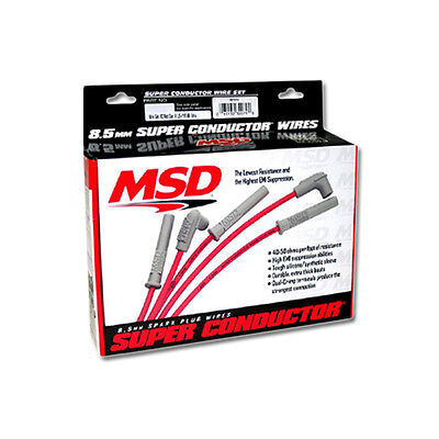MSD Ignition Super Conduttore Spark Plug 4 Cylinder Midget Set Wire, PN: 31689