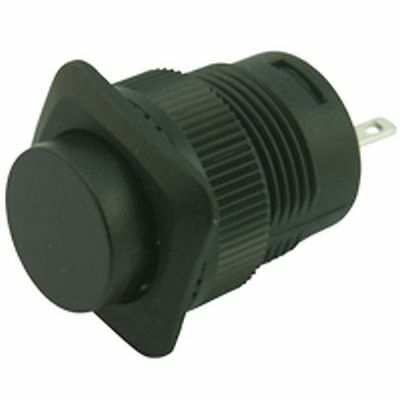 Panel Mounting Latching Push Button Switch Black