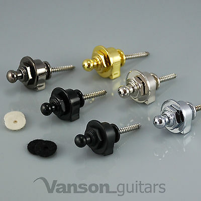 2 x NEW High Quality VANSON Strap Locks for Electric Guitar, Bass, or Acoustic