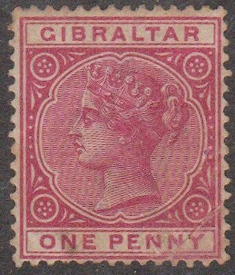 (RE1) 1886 Gibraltar 1d red QVic ow40