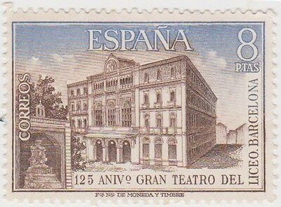 (SPB144) 1972 SPAIN 8p brown & blue fine used ow2172