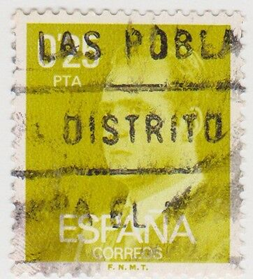 (SPB180) 1976 SPAIN 25p yellow king Carlos ow2390
