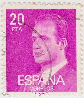 (SPB198) 1976 SPAIN 20p mauve king Carlos ow2407