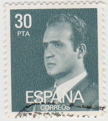 (SPB201) 1976 SPAIN 30p green king Carlos ow2408