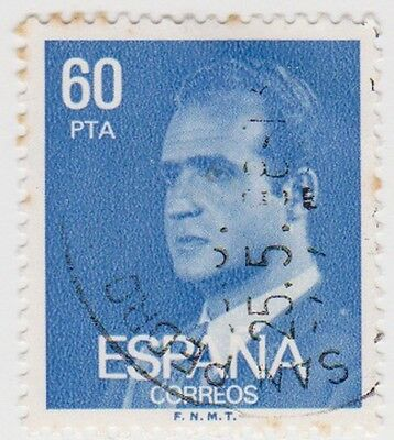 (SPB204) 1976 SPAIN 60p blue king Carlos ow2409a