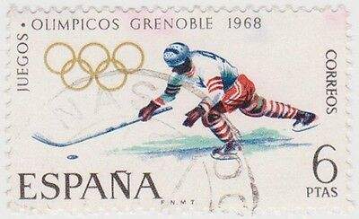 (SPB60) 1968 SPAIN 6p hocky fine used ow1911