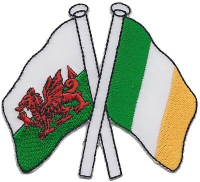 Wales Welsh and Ireland Irish Friendship Flag Embroidered Patch Badge