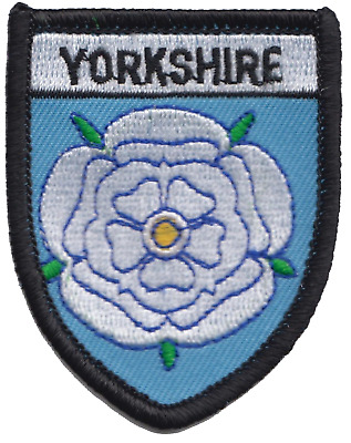 Yorkshire County Flag Shield Embroidered Patch Badge