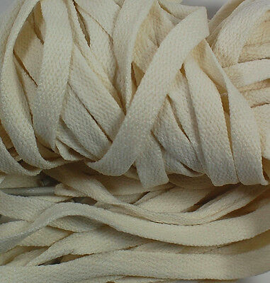 """New! 1 Pair Set Off White Beige Shoelaces Shoe Strings Lace Sneakers Flat 47"""""""