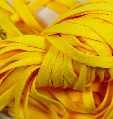 """New! 1 Pair Set Yellow Shoelaces Shoe Strings Lace Sneakers Flat 47"""" Amarillo"""