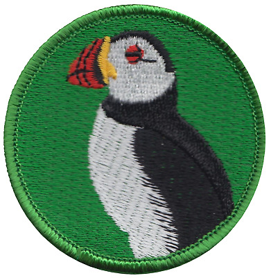 Puffin Sea Bird Embroidered Patch Badge