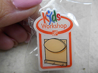 "NEW Home Depot® Kids Workshop Lapel Pin 1.5"" x 1"" Peg Board with Name Plate"