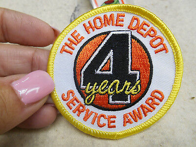 """NEW Home Depot® 4yrs Service Award Patch Iron On 2-1/2"""" round"""