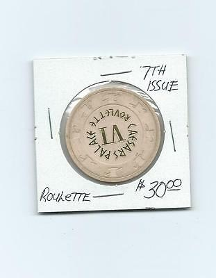 Caesars Palace Casino Roulette Chip, 7th Issue, Clean